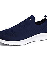 cheap -Men's Comfort Shoes Mesh Summer / Spring & Summer Sporty / Casual Loafers & Slip-Ons Walking Shoes Breathable Black / Black and White / Dark Blue
