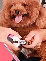 Недорогие -Собаки Коты Чистка Резина Ножницы Кусачки для маникюра Пилка для ногтей Компактность Синий Розовый