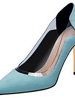 Недорогие -Жен. Обувь на каблуках На шпильке Заостренный носок Полиуретан Весна & осень Черный / Светло-синий