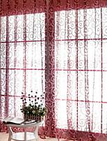 Недорогие -Листья Прозрачный 1 панель Прозрачный Спальня   Curtains