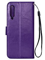 Недорогие -чехол для xiaomi xiaomi mi 9 держатель карты / флип чехлы для тела сплошной цвет тпу