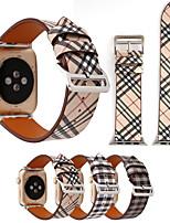 Недорогие -кожаный ремешок в клетку с ремешком в виде яблока для браслетов 44мм / 40мм / 42мм / 38мм для женщин / мужчин, браслет для часов серии 3 2 1