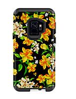 Недорогие -Кейс для Назначение SSamsung Galaxy S9 / S9 Plus Защита от удара Кейс на заднюю панель Пейзаж / Цветы ПК