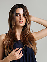Недорогие -Парики из искусственных волос Блестящий завиток Естественные волны Стиль Ассиметричная стрижка Без шапочки-основы Парик Омбре Цвет Ombre Искусственные волосы 30 дюймовый Жен. / Для темнокожих женщин