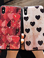 Недорогие -чехол для яблока iphone xs / iphone xr / iphone xs max / x / 6/7/8 / 6plus / 7plus / 8plus / 6s / 6s плюс шаблон задняя крышка сердце искусственная кожа