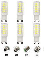 Недорогие -6шт 7 W LED лампы типа Корн Двухштырьковые LED лампы 700 lm E14 G9 E12 T 64 Светодиодные бусины SMD 2835 Диммируемая Новый дизайн Тёплый белый Белый 220-240 V 110-120 V