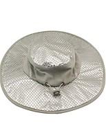 Недорогие -Универсальные Классический Шляпа от солнца Полиэстер,Однотонный Лето Серебряный