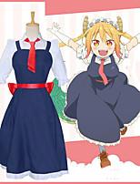 Недорогие -Вдохновлен Miss Kobayashi's Dragon Maid Косплей Аниме Косплэй костюмы Японский Косплей Костюмы Платье / Перчатки / Пояс Назначение Жен.