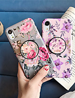 Недорогие -чехол для яблока iphone xs / iphone xr / iphone xs max с подставкой / выкройка задней обложки цветочное тпу для iphone x 8 8plus 7 7plus 6 6s 6plus 6splus