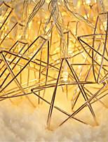 Недорогие -3 м 20 светодиодов 3d звезда провод из светодиодов гибкий шнур светло-железный материал а. А. Батареи огни для дома свадьба рождественский декор (приходят без батареи)
