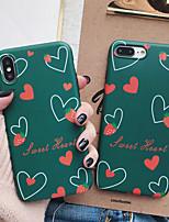 Недорогие -чехол для яблока iphone xs max / iphone 8 plus пылезащитный / матовый / с узором на задней крышке сердца ТПУ для iphone 7/7 plus / 8/6/6 plus / xr / x / xs