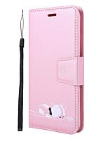 Недорогие -Кейс для Назначение Xiaomi Redmi Note 7 / Redmi Note 6 Pro Кошелек / Бумажник для карт / со стендом Чехол Однотонный / Кот / Мультипликация Кожа PU