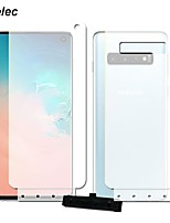 cheap -2pcs front+back soft hydrogel film for samsung galaxy s10 5g s10 plus s10e s9 s8 plus note 9 8 a8 a7 2018 tpu screen protector
