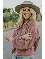 Недорогие -Жен. Блуза Классический Однотонный Розовый