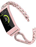 Недорогие -Ремешок для часов для Fitbit Charge 3 Fitbit Спортивный ремешок / Дизайн украшения Нержавеющая сталь Повязка на запястье