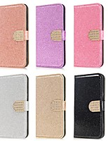 cheap -Case For Huawei Y6p Y5p Y7p Wallet Card Holder with Stand Glitter Shine PU Leather Case For Huawei P smart 2020 P40 lite  Honor 9S Nova 6 SE Nova 7i P40 Pro Y7 Prime (2019) Honor 20 lite Mate 20