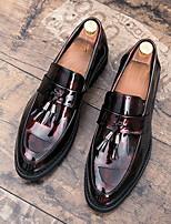 Недорогие -Муж. Комфортная обувь Полиуретан Лето Мокасины и Свитер Черный / Красный
