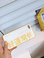 Недорогие -Кейс для Назначение Apple iPhone XS / iPhone XR / iPhone XS Max Ультратонкий / С узором Кейс на заднюю панель Слова / выражения Закаленное стекло