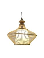 Недорогие -кантри бамбук тканые подвесной светильник столовая подвесные светильники круглый ресторан подвесные светильники