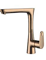 Недорогие -Ванная раковина кран - Вращающийся Хром / Начищенная бронза / Матовый никель По центру Одной ручкой одно отверстиеBath Taps