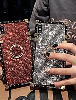 Недорогие -чехол для apple iphone 6 plus / 6/7 plus / 7/8 plus / 8 / x / xs / xr / xs max ударопрочный / держатель кольца / блестящий блеск задняя крышка броня / блестящий блеск металл