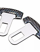 Недорогие -универсальный карбоновый автомобиль безопасности автомобильный ремень безопасности пряжки предупредительная сигнализация пробка ограничитель элиминатор зажим зажим