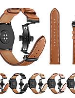 Недорогие -Для Huawei часы GT смотреть ремешок черный бабочка пряжка из натуральной кожи ремешок браслет ремень