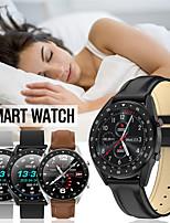 Недорогие -Смарт Часы Цифровой Современный Спортивные Натуральная кожа 30 m Защита от влаги Пульсомер Bluetooth Цифровой На каждый день На открытом воздухе - Черный Коричневый Черный / серый
