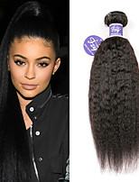 Недорогие -3 Связки Индийские волосы Вытянутые Не подвергавшиеся окрашиванию человеческие волосы Remy Человека ткет Волосы Удлинитель Пучок волос 8-28 дюймовый Естественный цвет Ткет человеческих волос