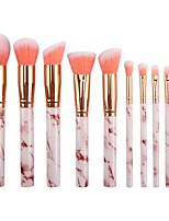 cheap -10 Pieces of Marble Makeup Brushes Portable Type Marble Makeup Brush Set Beauty Tools Makeup Brushes