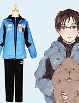Недорогие -Вдохновлен Юрий !!! на льду Косплей Аниме Косплэй костюмы Японский Косплей Костюмы Пальто / Брюки / Футболка Назначение Муж.
