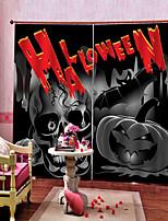 Недорогие -Украшение дома 3d печать хэллоуин тема испугалась душа фон шторы утолщение затемнения звуконепроницаемые пользовательские шторы продукты