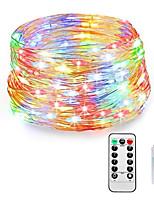 Недорогие -Loende сказочные огни подключить в 8 режимах 20 м 200 светодиодные шнуры света USB с адаптером дистанционного таймера водонепроницаемый декоративные огни для спальни патио рождественская свадьба