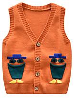 Недорогие -Дети Дети (1-4 лет) Девочки Активный Классический С принтом С принтом Без рукавов Свитер / кардиган Оранжевый