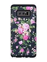 Недорогие -Кейс для Назначение SSamsung Galaxy Note 8 Защита от удара / Защита от влаги Кейс на заднюю панель Пейзаж / Цветы ПК