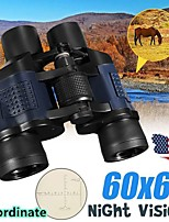 cheap -60X Magnification 60x60 Outdoor Coated Optics Day and Night Vision Working Optical Telescope Binocular with Eye Scale Reading