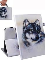 Недорогие -Кейс для Назначение Apple iPad Air / iPad 4/3/2 / iPad Mini 3/2/1 Кошелек / Бумажник для карт / Флип Чехол Животное Кожа PU