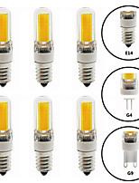 Недорогие -6шт 6 W Двухштырьковые LED лампы 600 lm E14 G9 G4 T 1 Светодиодные бусины COB Диммируемая Новый дизайн Тёплый белый Белый 220-240 V 110-120 V