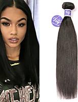 Недорогие -3 Связки Бразильские волосы Прямой человеческие волосы Remy 100% Remy Hair Weave Bundles Человека ткет Волосы Удлинитель Пучок волос 8-28 дюймовый Нейтральный Ткет человеческих волос