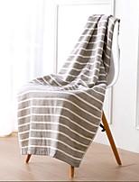 Недорогие -Высшее качество Банное полотенце, Полоски Хлопко-льняная смешанная ткань Ванная комната 1 pcs