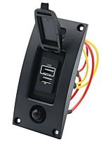 Недорогие -12-24v 3.4a изогнутый водонепроницаемый двойной usb зарядное устройство переключатель панели управления