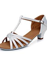 cheap -Women's Dance Shoes Latin Shoes Heel Cuban Heel Customizable White / Black / Gold
