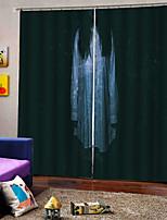Недорогие -Новое поступление роскошный ужас женщина призрак 3d цифровая печать окна занавес 100% полиэстер плотные шторы ткань для hallowmas декор