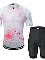 Недорогие -MUBODO Фламинго Кактус Муж. С короткими рукавами Велокофты и велошорты - Розовый / черный Велоспорт Наборы одежды Дышащий Влагоотводящие Быстровысыхающий Виды спорта Тюль / Эластичная