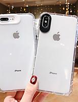 Недорогие -Кейс для Назначение Apple iPhone XS / iPhone XR / iPhone XS Max Защита от удара / Ультратонкий / Прозрачный Кейс на заднюю панель Прозрачный ТПУ