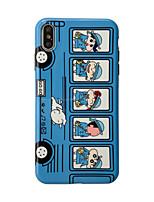 Недорогие -Кейс для Назначение Apple iPhone XS / iPhone XR / iPhone XS Max IMD / Ультратонкий / С узором Кейс на заднюю панель Мультипликация ТПУ