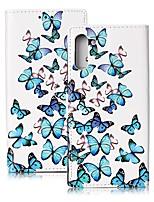 Недорогие -Кейс для Назначение SSamsung Galaxy Note 9 / Note 8 / Galaxy Note 10 Кошелек / Бумажник для карт / Защита от удара Чехол Бабочка Кожа PU
