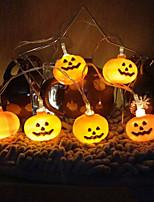 Недорогие -3 м хэллоуин тыква строка огни 30 светодиодов теплый белый творческий украшения партии огни 3 В 1 компл.
