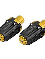 Недорогие -1 пара 10-миллиметровых мотоциклетных защитных колпачков выхлопной рамы ползунка анти-защитная накладка