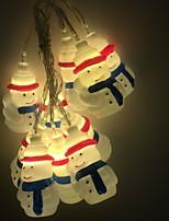 Недорогие -3 м рождественский снеговик гирлянда 20 светодиодов теплый белый праздник декоративные 5 В 1 компл.